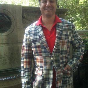 Polo Ralph Lauren sport coat madras cotton LG